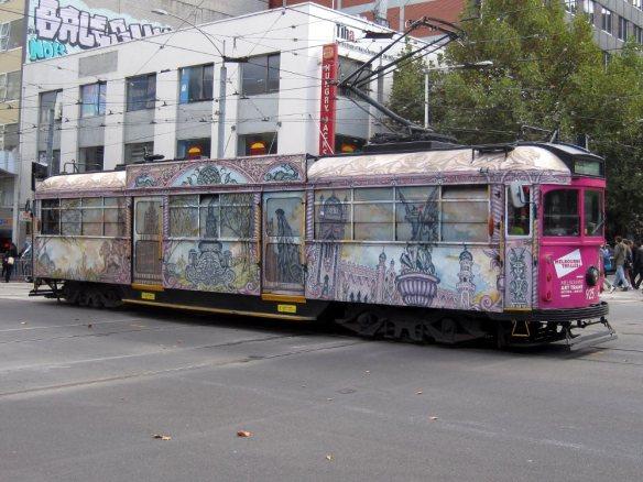 melbourne street art tram