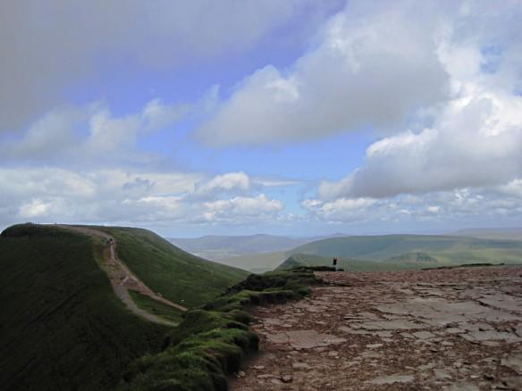 Pen y Fan mountain in Brecon Beacons Wales
